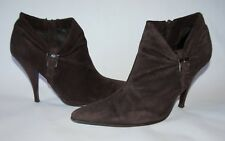Steve Madden Brown Suede Short Boots Booties Stiletto Heels Shoes Size 8