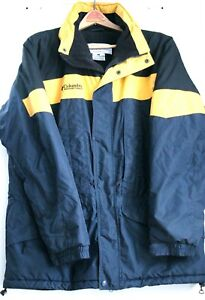 Preowned men's large yellow/black Columbia Winter jacket with hood