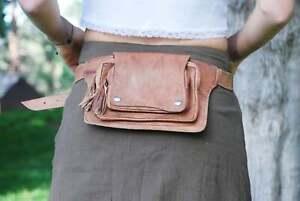 Belt Bag Women Leather Fanny Pack Festival Hip Bag Utility Belt Men Bum Bag