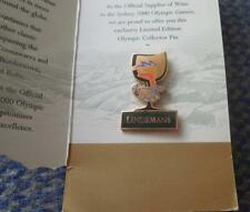 OLYMPIC SYDNEY 2000 LINDEMANS OFFICIAL SUPPLIER WINE LIMITED EDITION PIN BADGE