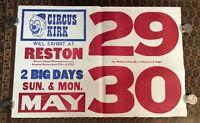 Vintage Date Poster Circus Kirk INV-C14
