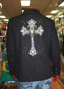 Men's Kanji Black Cross Blazer