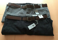 Mens M&S Collection Sizes 38 42  Straight Fit Chinos Trousers with Belt