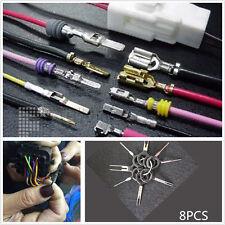 8 pcs Car Electrical Terminal Wiring Crimp Connector Pin Removel Key Tool Kits