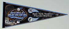 "2003 NEW YORK YANKEES FLORIDA MARLINS WORLD SERIES  29"" Pennant MLB"