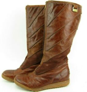Sorel Women's Firenzy II Brown Suede Leather Front Zip Round Toe Boots Sz 7.5