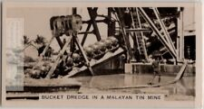 Bucket Dredge In Malayan Tin Mine South East Asia 1920s Ad Trade Card