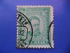 PORTUGAL STAMP - 1882/84 KING LUIS I (NEW DRAW / NOVO DESENHO) - 10 REIS GREEN