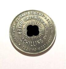 Piece Hitler 1935 1 Schilling RM Reichsmark Coin Gautirol Vorarlberg ww2 Germ