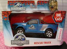 2015 Jurassic World RESCUE TRUCK☆Blue w/Silver☆Dinosaur☆Jada 1:43