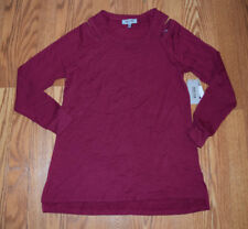 NWT Womens KENNETH COLE Anemone Dark Pink Cold Shoulder Shirt Top XXL 2XL  $39