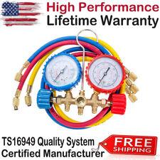NEW Manifold Gauge Set R12 R22 R134A R502 HVAC Refrigeration Charging Service US