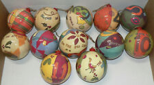 Vintage 12 Days of Christmas Ornaments, Plastic Coated Paper, Excellent