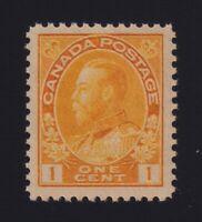 Canada Sc #105 (1922) 1c orange-yellow Admiral Die I Wet Mint VF
