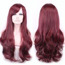 Wie Echthaar!Mode Natürliche Damen Kurz Gelockt Rot Volle Perücken wig