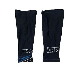 New 2020 Women's Voler Team Tibco Pro Cycling Knee Warmers, Navy, Size Medium