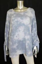 IDEOLOGY NWT Blue-Gray Tie-Dye Tie Sleeve Athletic Athleisure Shirt sz 2X $54