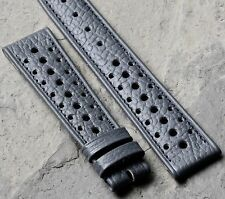 Heuer Autavia Heuer Camaro compatible grey NOS vintage watch 19mm rally strap