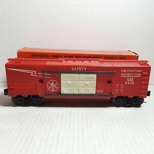 Lionel #6530 Fire & Safety Training Box Car With Original Box Post-War