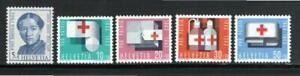Switzerland 1963 SC#B324-8 Set of 5 Anna Heer & Various Red Cross Items Mint NH