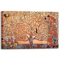 Gustav Klimt albero della vita 2 quadro stampa tela dipinto telaio arredo casa