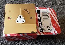Mk k14340 PBR con 2a 2 Amp Perno Redondo Enchufe Teléfono Bs546 Latón 1 TOMA 1g