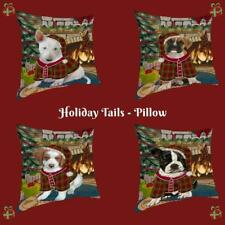 Christmas Stocking Hung Dog Cat Pet Throw Decorative Pillow 14x14 In Gift