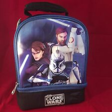 """Thermos Star Wars The Clone Wars Insulated Soft Dual Lunch Box  **NEW WITH TAGS"""""""