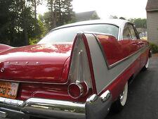 Mopar NOS 1958 Plymouth LH RH Taillight Stop, Turn Signal Lamp Bezel 1810220