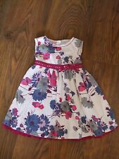 fits age 18 - 24 months monsoon girls dress Summer Party Pink White Multi Frilly