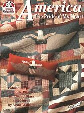 AMERICA THE PRICE OF MY HEART QUILTS PILLOWS PIECED STARS BLOCK EAGLE FLAG SMALL