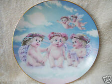 """Kristin 1994 DREAMSICLES PLATE """"The Flying Lesson"""" No.2766AK Hamilton Collection"""