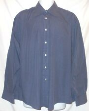 ARMANI BLUE WITH FINE WHITE PLAIDS L/S HIGH QUALITY DRESS SHIRT ARM6952B4