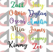 1x Personalised Name or Word Vinyl Decal Sticker Bottles Lunch Box Style