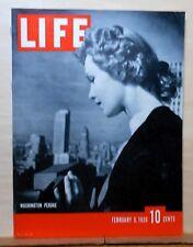 Life Magazine - February 6, 1939 - Washington Peruke - Walt Disney & new DeSoto