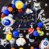 Space Astronaut Alien Earth Birthday Party Supplies Cake toppers Balloon Napkins