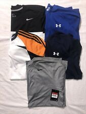 Nike Dri-Fit/Under Armour Heat Gear/Adidas ClimaCool Long-Sleeve Shirts Lot of 5