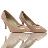 Womens Ladies Mid High Heel Wedding Bridal Party Prom Stiletto Girls Court Shoes