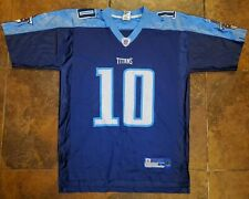 Reebok Vince Young Tennessee Titans Football Jersey Men's Large Blue