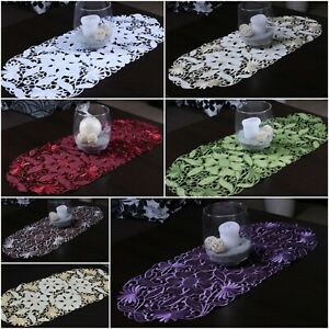 Amazing Small Table Runners Ideal for Coffee Table, Oval Embroidered Tablecloths