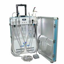 Dental Portable Unit Compressor Scaler+Curing Light + 4H Handpiece Tube US STOCK
