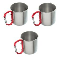 3) 10 oz Compact Cup Stove Campfire Camping Survival Metal Carabiner Backpacking