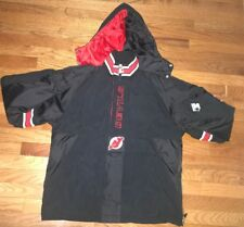 Vintage Starter Hooded  New Jersey Devils 1/4 Zipper  Pullover Jacket XL