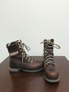 "Women's Caterpillar Clover 8"" Steel Toe Workboot Size 8."