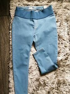 TOPSHOP LIGHT BLUE JONI UNDER BUMP MATERNITY JEANS SIZE 12 L28 NEW WITH TAGS
