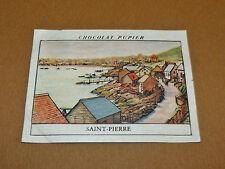 CHROMO #17 SAINT-PIERRE ST PIERRE & MIQUELON CHOCOLAT PUPIER AMERIQUE NORD 1952