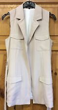 New Look Cameo Rose Sans Manches Trench Cascade Veste UK 8