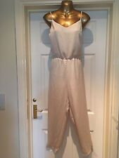 BNWT lovely TOPSHOP cream jumpsuit size 14-RRP£48
