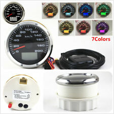 New 7 Colors LED 85mm GPS Speedometer Gauge 200KM/H