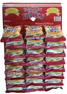 Smiths Bacon Fries 23 packs 24g Pub Snack Card Carded Bags